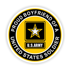 Proud Boyfriend of a United States Soldier Car Magnet
