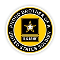 Proud Brother of a United States Soldier Car Magnet