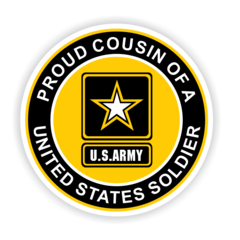 Proud Cousin of a United States Soldier Car Magnet