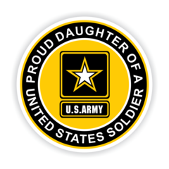 Proud Daughter of a United States Soldier Car Magnet