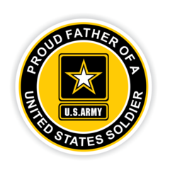 Proud Father of a United States Soldier Car Magnet