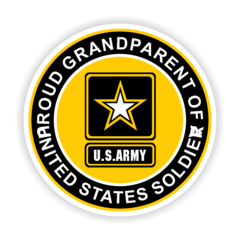 Proud Grandparent of a United States Soldier Car Magnet