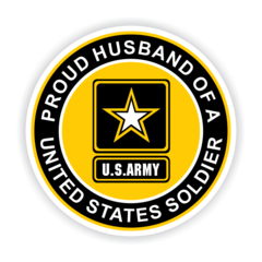 Proud Husband of a United States Soldier Car Magnet