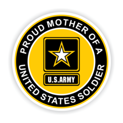 Proud Mother of a United States Soldier Car Magnet