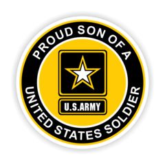 Proud Son of a United States Soldier Car Magnet