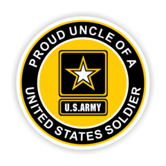 Proud Uncle of a United States Soldier Car Magnet