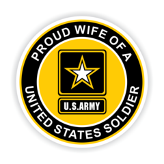 Proud Wife of a United States Soldier Car Magnet