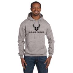 US Air Force Imprinted Hoodie Sweatshirt By Champion