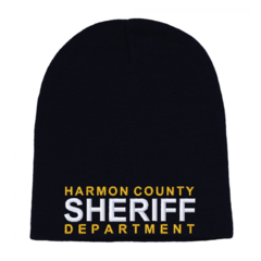 Sheriff Custom Embroidered Cuffless Beanie
