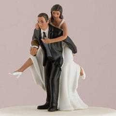 African American Football Cake top Figurine