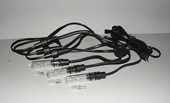 3 tube lights on one power cord
