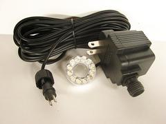 Small 12 LED light set complete with outdoor transformer and 31 foot power cord