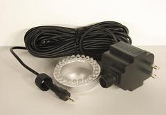 LED light for in or out of water with rain proof transformer and long power cord