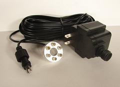 LED white light with 6 bulbs and transformer, in or out of water use