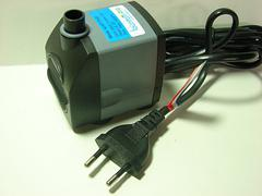 Indoor European electric fountain pump with 2 pin plug on power cord