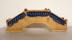 Oriental bridge for home decor, moss gardens, water gardens, bonsai trees