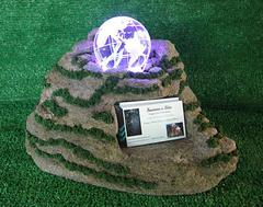 Glass globe with color lights | Illuminating desktop display piece | business card holder