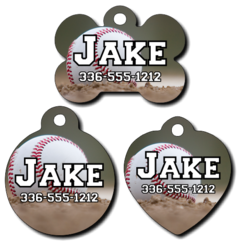 Personalized Baseball Pet Tag for Dogs and Cats