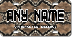 Personalized Snake Skin License Plate for Bicycles, Kid's Bikes, Carts, Cars or Trucks