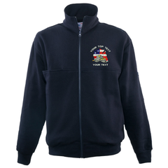GAME The Firefighter's Full Zip Turtleneck With Custom Embroidered Logo