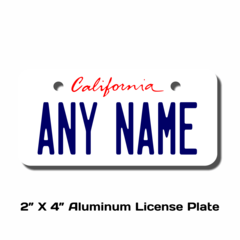 Personalized California License Plate - Size 2