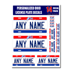 Personalized Ohio License Plate Decals - Stickers Version 1