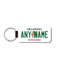 Personalized Oklahoma 1.5 X 3 Key Ring License Plate