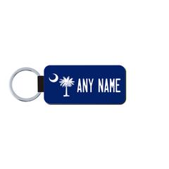 Personalized South Carolina 1.5 X 3 Key Ring License Plate