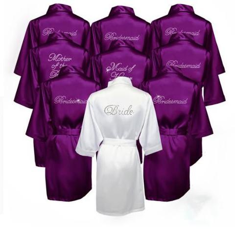 Personalized Bling Robes for the bridal party, Mother of Bride or other family members
