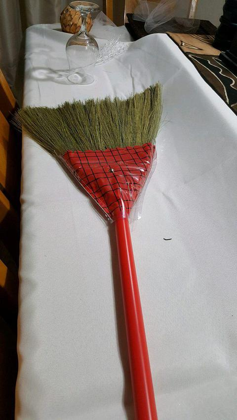 Undecorated wedding broom for jumping the broom ceremony