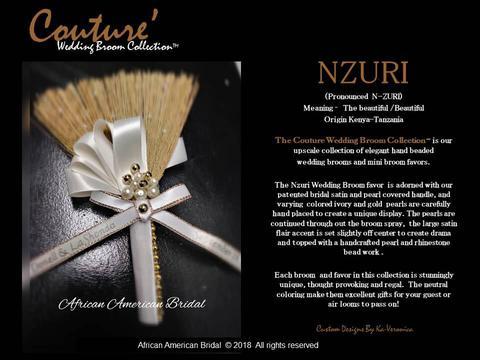 African American Bridal Wedding Broom Favor