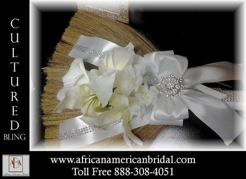 Cultured Bling Wedding Jumping Broom