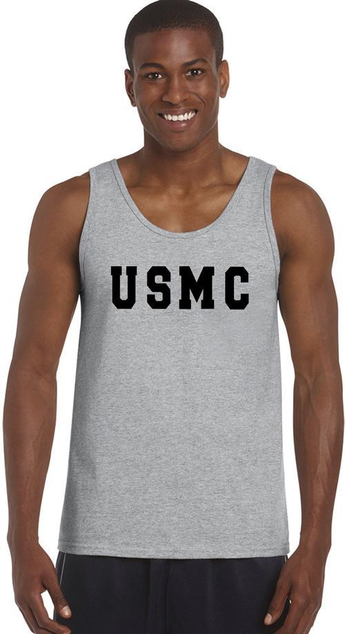 Usmc tank top custom imprint and embroidery for Best custom t shirts reddit