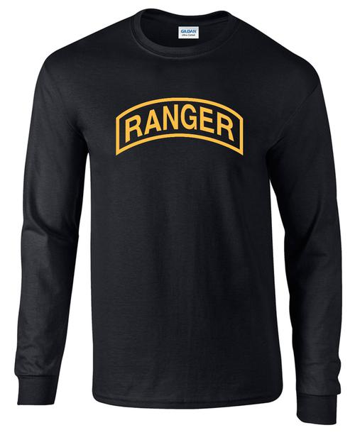 U S Army Ranger Long Sleeves Black T Shirt Teamlogo Com Custom