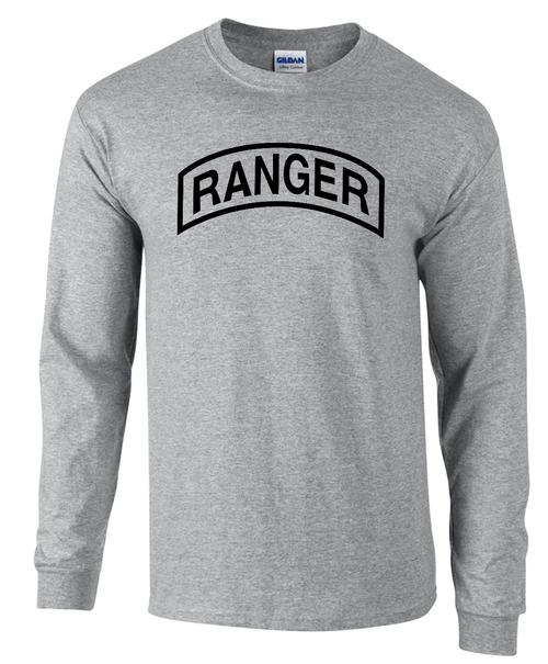 U S Army Ranger Long Sleeve T Shirt Teamlogo Com Custom Imprint
