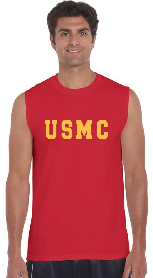 497634ea USMC Sleeveless Muscle T-Shirt - Teamlogo.com | Custom Imprint and  Embroidery
