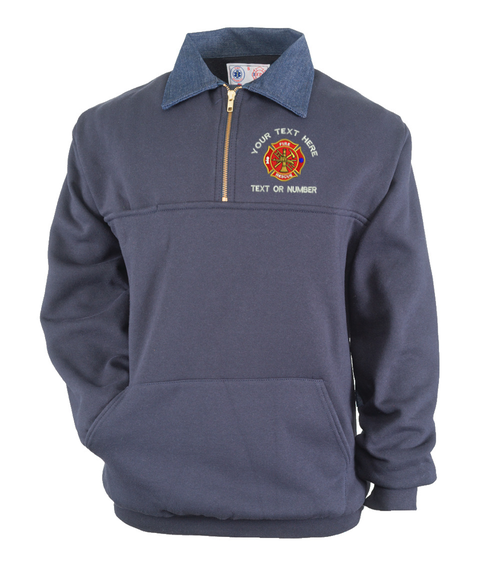 Game Firefighter Work Shirt With Pouch Pocket And Custom Embroidered