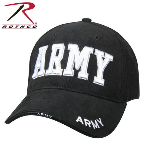 65bd203c526 Rothco Deluxe Army Black 3D Embroidered Low Profile Cap - Teamlogo.com