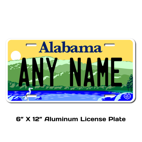 Personalized Alabama 6 X 12 License Plate