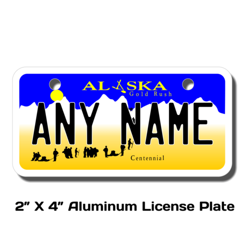 Personalized Alaska 2 X 4 License Plate