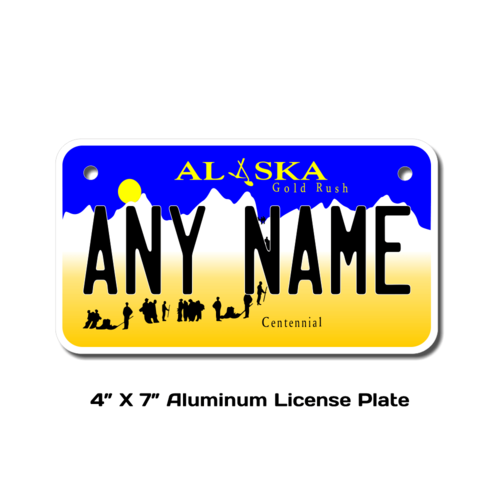Personalized Alaska 4 X 7 License Plate