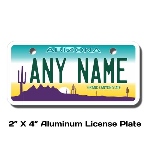 Personalized Arizona 2 X 4 License Plate