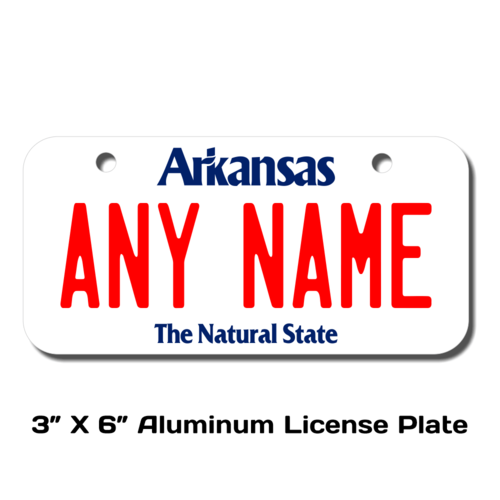 Personalized Arkansas 3 X 6 License Plate