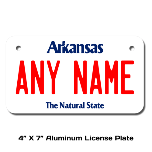 Personalized Arkansas 4 X 7 License Plate