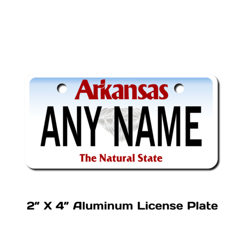 Personalized Arkansas 2 X 4 License Plate