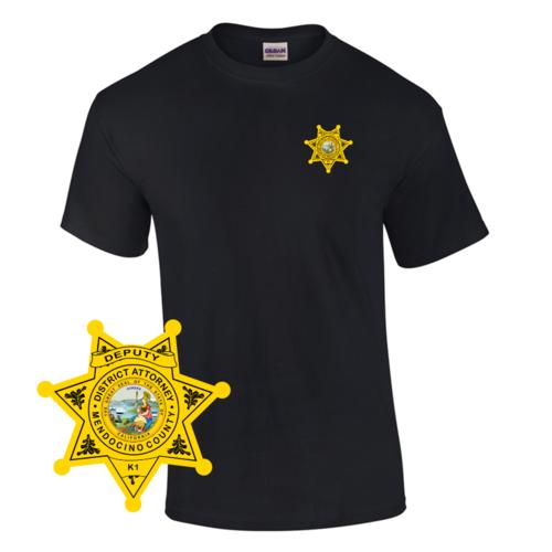 Law Enforcement Badge T-shirt Style 10 Custom Imprinted T-shirt