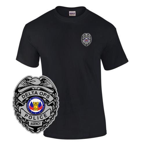Law Enforcement Badge T-shirt Style 1 Custom Imprinted T-shirt