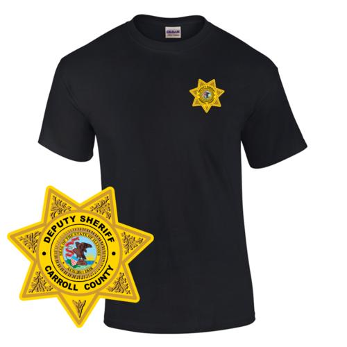 Law Enforcement Badge T-shirt Style 3 Custom Imprinted T-shirt
