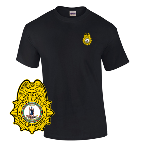 Law Enforcement Badge T-shirt Style 5 Custom Imprinted T-shirt