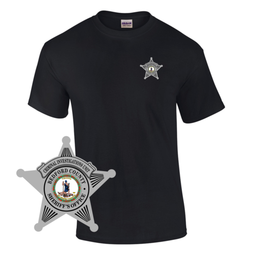 Law Enforcement Badge T-shirt Style 6 Custom Imprinted T-shirt